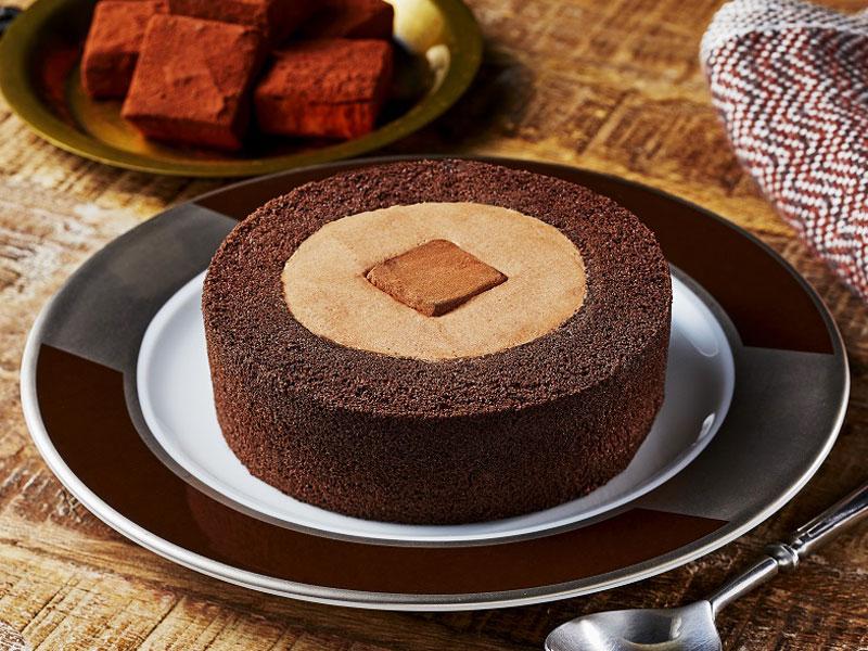濃深生チョコロールケーキ