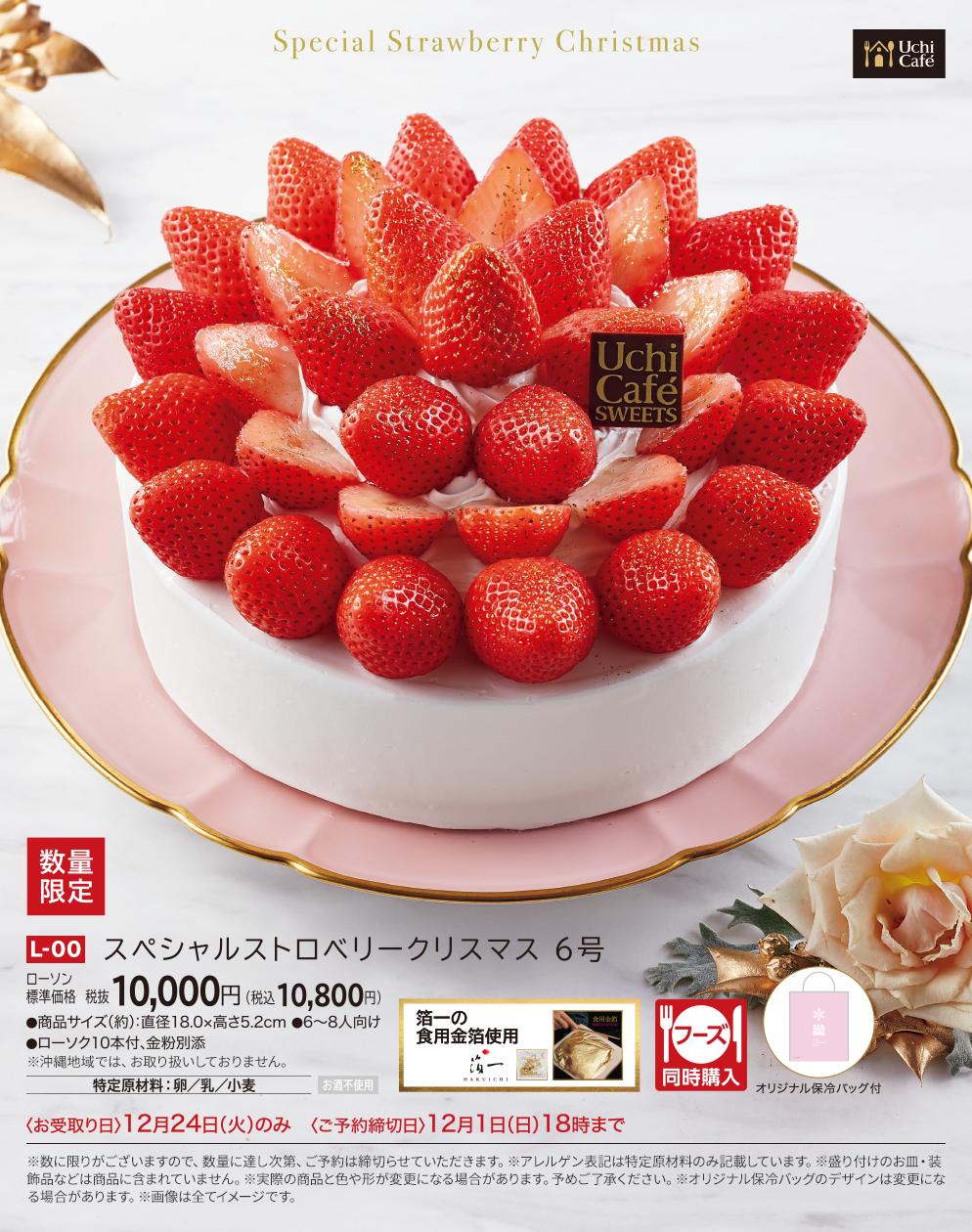 スペシャルストロベリークリスマス 6号 本体価格 10,000円(税込10,800円)