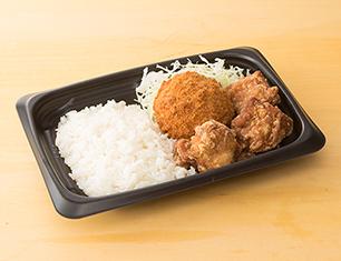 メンチ&鶏から弁当