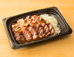 照焼チキンステーキ&ソースかつ丼