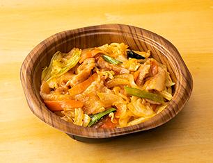 肉野菜丼(ピリ辛豚肉)