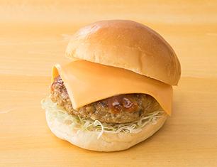 粗びき鉄板焼 チーズバーガー