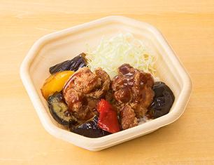 鶏からと野菜の甘酢がけミニ弁当