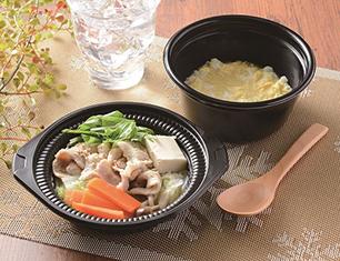 鍋から〆まで楽シメる! 豚肉のごま豆乳鍋(玉子雑炊)