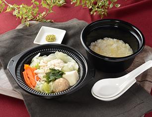 鍋から〆まで楽シメる!鶏・鶏・鶏白湯鍋(玉子雑炊)