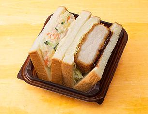 三元豚の厚切りカツ&ポテトサラダサンド