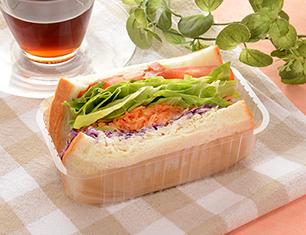 1食分の野菜が摂れるサンド(6種野菜と蒸し鶏サラダ)