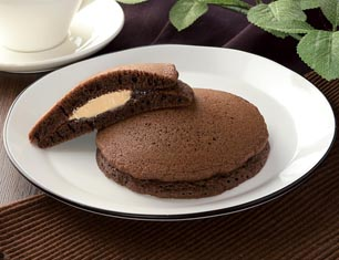 もちっとチョコパンケーキ チョコクリーム&アーモンドホイップ 2個入