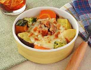 野菜とペンネのオーブン焼き