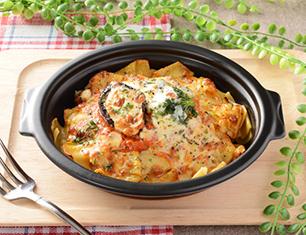 焼生パスタ トマトチーズソースのラザーニャ
