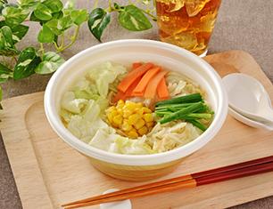 白湯仕立ての野菜タンメン