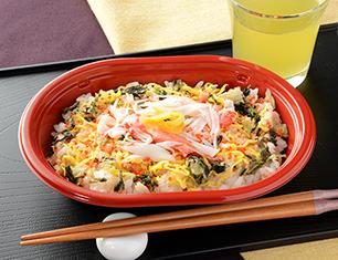 柚子とカニカマのちらし寿司