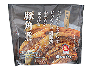 新潟コシヒカリおにぎり 豚角煮