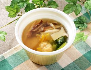 つくねときのこの和風スープ(柚子胡椒風味)