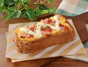 ハムエッグトースト~ブラン入り食パン使用~