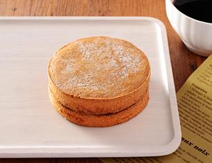 大豆粉の厚焼きパンケーキ ~アガベシロップ入りメープルソース~