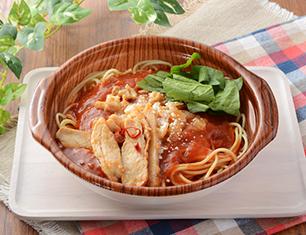 スープパスタ ピリ辛トマトソース