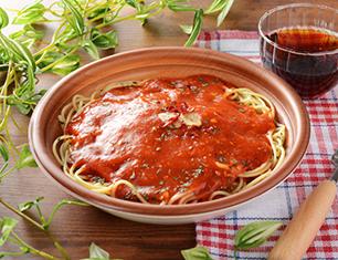 にんにくと完熟トマトのパスタ