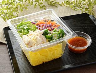 鶏ささみとオクラのこんにゃく麺サラダ