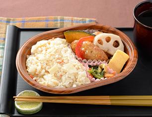 筍ごはん&豆腐ハンバーグ弁当