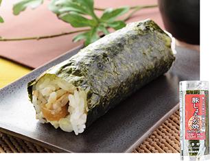 手巻寿司 豚しょうが焼