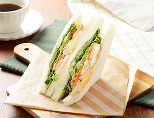 ペッパーチキン&5種野菜サンド