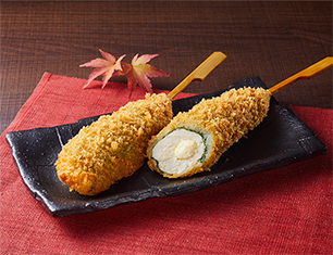 でか串カツ(ささみチーズと大葉)