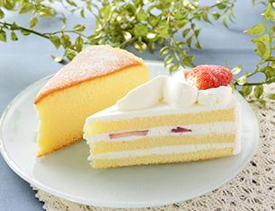 苺のショートケーキ&スフレチーズケーキ
