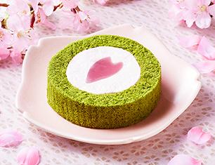 桜と抹茶のロールケーキ~はる・はろう・ろうる~