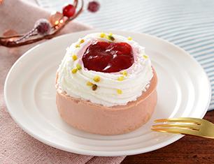 ストロベリー&クリームチーズケーキ