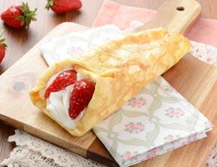 苺&バナナのクレープ包み