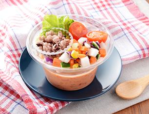 トマトと雑穀の冷製スープ