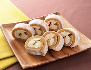 お餅で巻いたもち食感ロール(きなこもち)