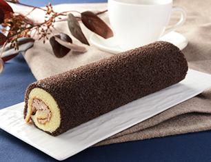 チョコスポンジロール ベルギーチョコ入りクリーム