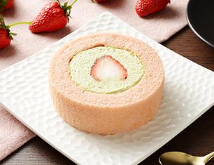 プレミアム苺とピスタチオクリームのロールケーキ もういっこ苺トッピング