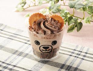 くまのカップケーキ(チョコ)