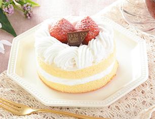 苺のミニホールケーキ