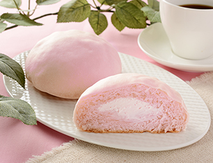 しっとり桃パン~国産桃入りクリーム&桃ホイップ~