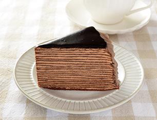 20層のチョコミルクレープ