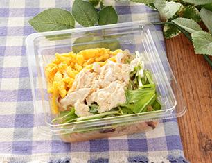 蒸し鶏と水菜の春雨サラダ