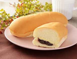 もっちりとしたコッペパン 北海道産小豆の粒あん&マーガリン