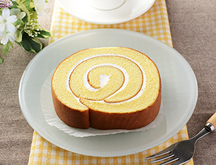 ヨード卵光のロールケーキ