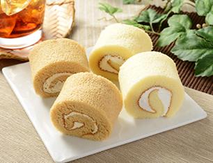 ロールケーキ4個入 コーヒー風味クリームと北海道産牛乳入りクリーム