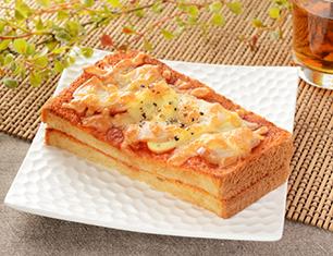 辛口ピザトースト ブラン入り食パン使用