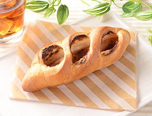 粗挽きソーセージフランスパン