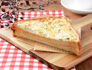 3種のきのこグラタン風トースト~ブラン入り食パン使用~