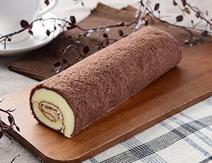 チョコスポンジロール(ベルギーチョコ入りクリーム)