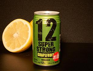 サンガリア スーパーストロング12 グレープフルーツ 350ml【ローソン・ポプラ限定商品】