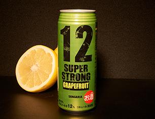 サンガリア スーパーストロング12 グレープフルーツ 500ml【ローソン・ポプラ限定商品】