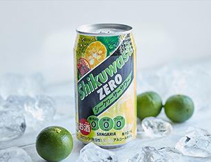 サンガリア 糖類0シークヮーサー 350ml【ローソン・ポプラ限定商品】